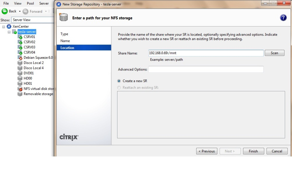 Montar VHD Existente en Citrix Mediante NFS